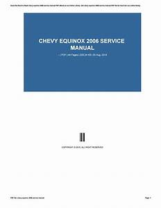 Chevy Equinox 2006 Service Manual By O055