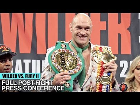 TYSON FURY'S FULL POST FIGHT PRESS CONFERENCE VS DEONTAY ...