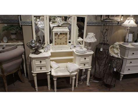 bureau coiffeuse meuble blanc pour la chambre ou coiffeuse blanche ou