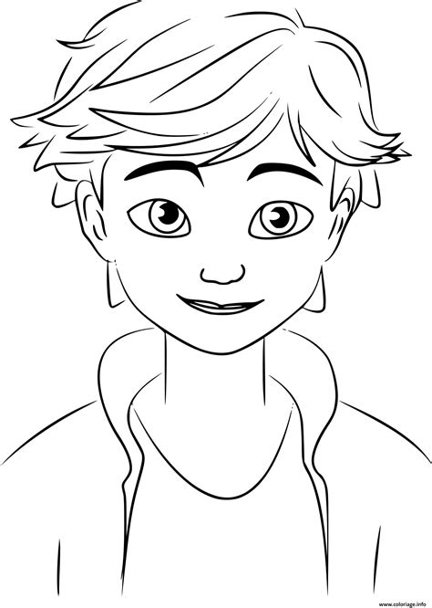 coloriage miraculous adrien agreste dessin