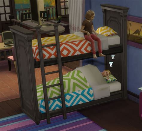 mod  sims functional bunk bed fixed april