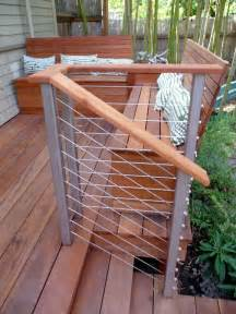 Cable Balcony Railing by Contemporary Deck With Fence By Birdsmouth Construction