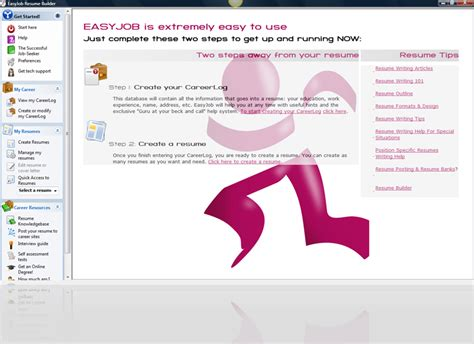 Free Resume Editing Software by Easyjob Resume Builder Easyjob Is A Revolutionary Resume
