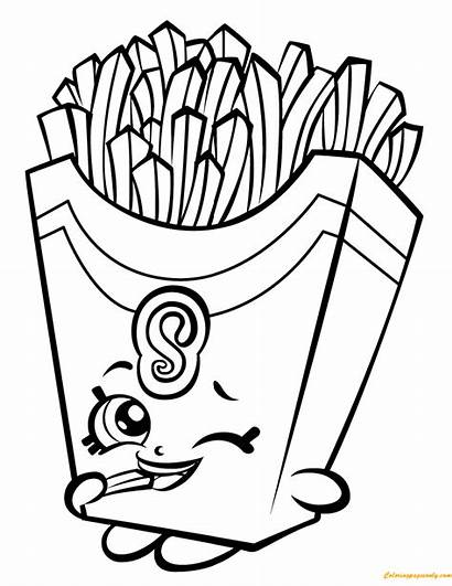 Shopkin Fries Pages Fiona Season Coloring
