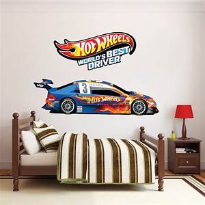 Hot wheels wall stickers peenmediacom for Amazing race car wall decals