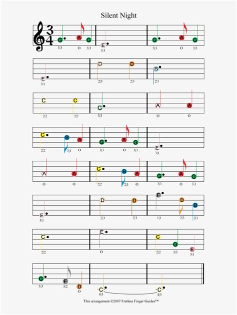 The most popular scores on this page are amazing grace, happy birthday to you, fur elise you are free to download and print out the high quality pdf music notes without any obligations! Silent Night Easy Color Coded Violin Sheet Music - Silent Night On Viola Easy Transparent PNG ...