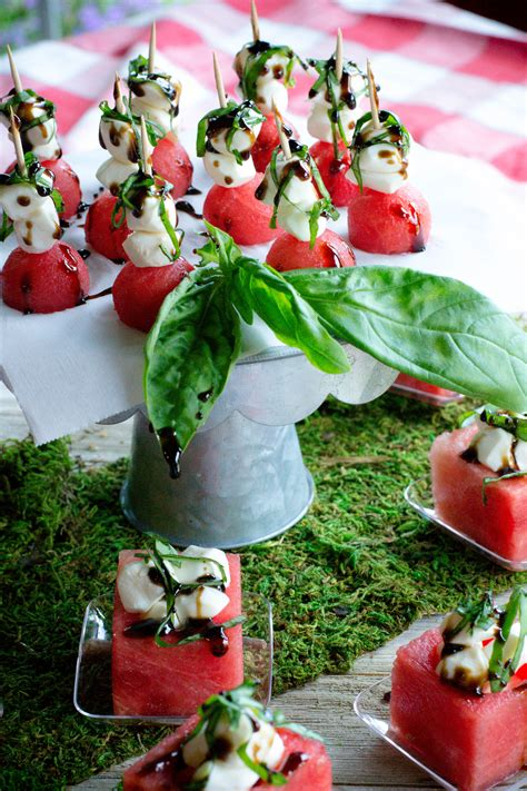 watermelon glaze watermelon caprese cups with balsamic glaze what the forks for dinner