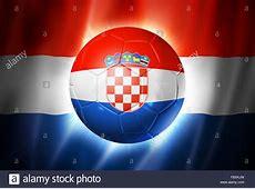 FußballFußballBall mit Kroatien Flagge Stockfoto, Bild