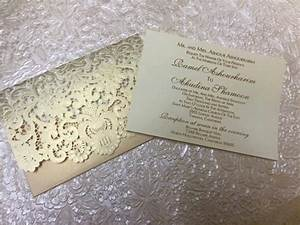 laser cut embossed lace wedding xv invitation romantic With inexpensive embossed wedding invitations