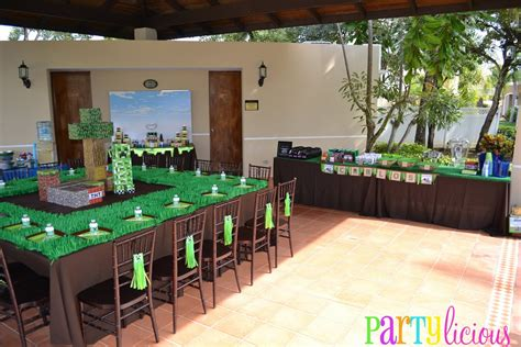 Partylicious Events Pr {minecraft Birthday Party}