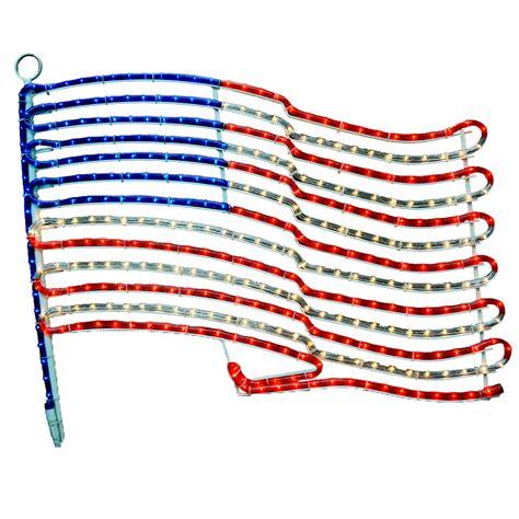 24 quot american flag rope light motif patriotic rope lights