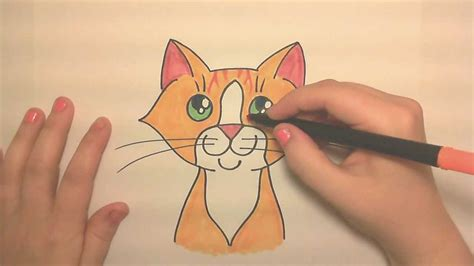 learn  draw  cute orange tabby cat face icanhazdraw