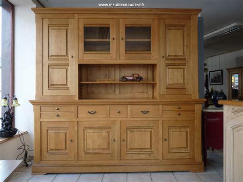 bureau vall2 buffet vaisselier 4 portes ref chamonix chêne
