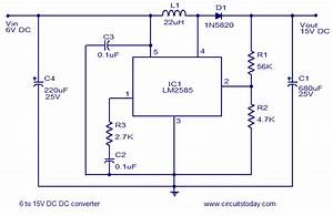 6v To15v Dc To Dc Converter Using Lm2585 Wired In The