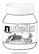 Nutella Da Colouring Pages Disegni Immagini Disegnare Per Coloring Sketch Draw Foto Template Alimenti Risultati Larger Credit sketch template