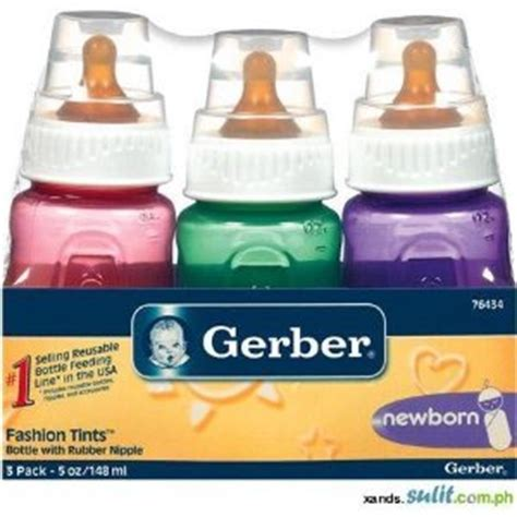 Amazon.com : Gerber Baby Bottle 5oz Fashion Tints (Two 3