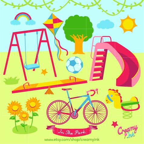Park Clip Park Clipart Outdoor Play Pencil And In Color Park