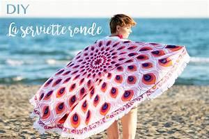 Serviette De Plage Ronde Coton : diy serviette de plage ronde blog mode lyon diy artlex ~ Teatrodelosmanantiales.com Idées de Décoration