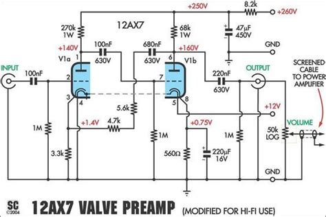 Preamplifier Schematic Electronics Valve