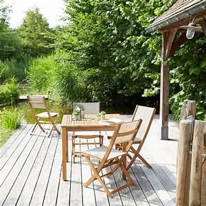 Salon De Jardin Acacia : salon de jardin en bois d 39 acacia fsc 4 places bois dessus bois dessous ~ Teatrodelosmanantiales.com Idées de Décoration