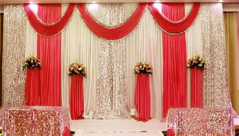 3m*6m Sequins Beads Edge Design Fabric Satin Drape Curtain Pink Swag With Silver Sequin Fabric Thick Curtains To Block Sound Lined Cheap Encore Down Lyrics Door Window Small Extra Wide Blackout Yellow Red Outdoor Pink And Brown Shower