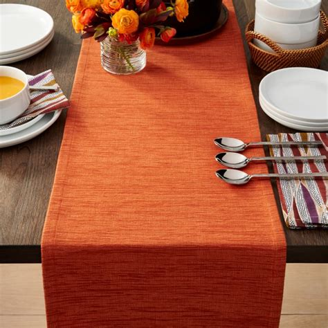 grasscloth  orange table runner reviews crate