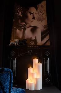FARLUCE Classic - bloklys med fyrfadslys - Ø: 10 cm ...