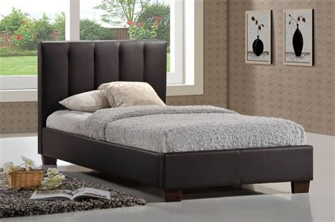limelight pulsar brown ft single faux leather bed frame