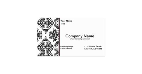 black white damask business modern card standard