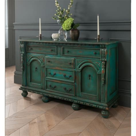 Green Sideboard by Green Antique Style Sideboard Shabby Chic Dining