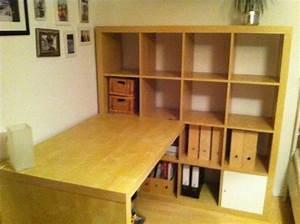 Ikea Regal Mit Schreibtisch : ikea kallax schreibtisch ideen ~ Michelbontemps.com Haus und Dekorationen