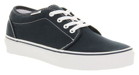sneakers gucci vulcanize 8730 lyst vans 106 vulcanized navy bluewhite in blue for