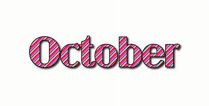 October Word Logos Stripes Flaming Animated Tool