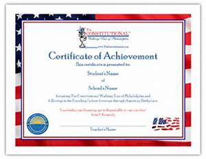 certificate of achievement the constitutional walking With walking certificate templates
