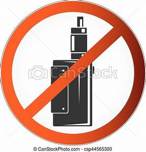 No vaping symbol Prohibited symbol vapor for the vector
