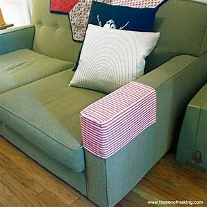 tutorial simple fabric armrest covers red handled scissors With sofa arm covers next