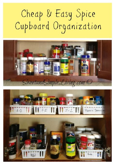 kitchen organization ideas on a budget kitchen organization cheap and easy spice cupboard 9497