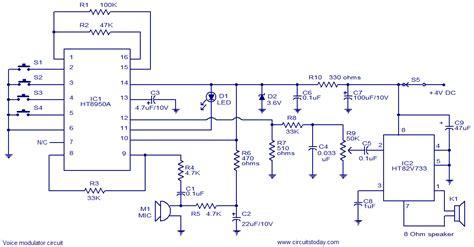 voice modulator circuit electronic circuits  diagrams