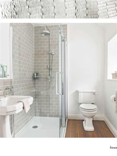 Gray Tile, Brown Floors, White Fixtures Kids' Bath