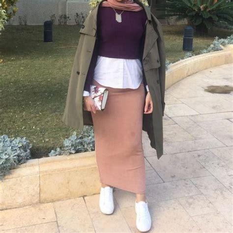 Hijab Fashion Inspiration Styling Skirt Muslimah