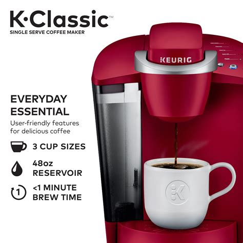 We have tested 30+ keurig coffee makers in our labs and rated them according to their brewing capacity 1. Keurig K-Classic Coffee Maker, Single Serve K-Cup Pod Coffee Brewer, 6 to 10 oz. Brew Sizes ...