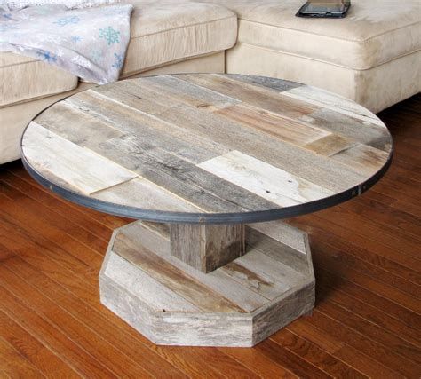 With below creative farmhouse coffee table décor ideas, you can design it easily by yourself. Round Rustic farmhouse Coffee Table Reclaimed Barn Wood   Etsy   Coffee table farmhouse, Wood ...