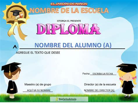diplomas en word para preescolar por una mejor educaci 243 n carlosrlun diploma para