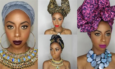 wrap hair style 4 easy artistic ways to tie wrap styles 1089