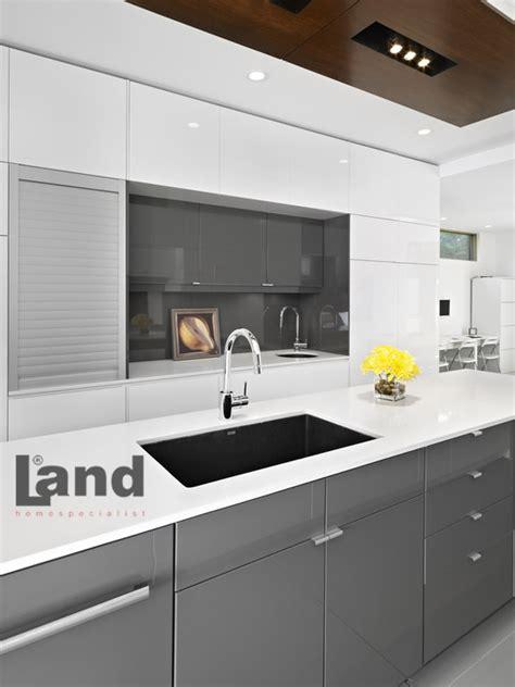 black shiny kitchen cabinets antrasit mutfak dolapları 4743