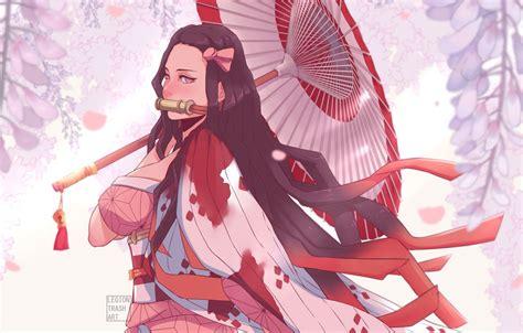 wallpaper umbrella illustration characters