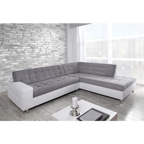 canape simili blanc java canapé d 39 angle droit en simili et tissu 6 places