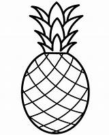 Coloring Pineapple Fruit Print Pages Printable Children Fruits sketch template