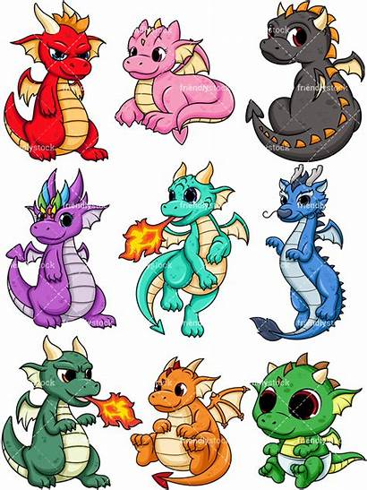Dragons Dragon Cartoon Clipart Friendlystock Fire Vector