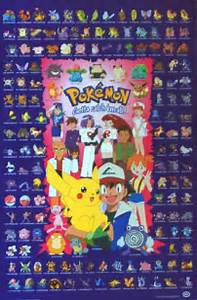 all pokemon character poster
